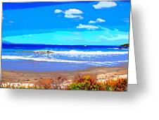 Enjoy The Blue Sea Greeting Card