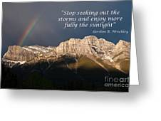 Enjoy The Sunlight Greeting Card