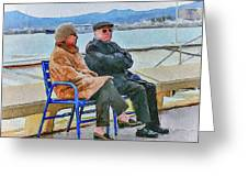 Enjoying Late Fall In Cannes Greeting Card