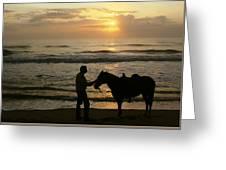 Enjoying The Sunrise Greeting Card