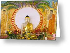 Enlightened Buddha Sitting Under The Bodhi Tree Greeting Card