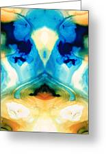 Enlightenment - Abstract Art By Sharon Cummings Greeting Card