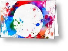 Enso Circle Paint Splatter Greeting Card