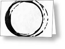 Enso No. 107 Black On White Greeting Card