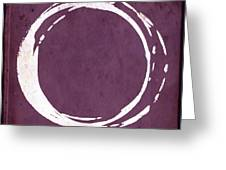 Enso No. 107 Magenta Greeting Card