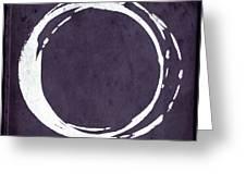 Enso No. 107 Purple Greeting Card