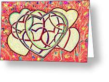 Entangled Hearts Greeting Card