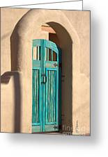 Enter Turquoise Greeting Card