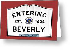 Entering Beverly Greeting Card