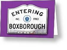 Entering Boxborough Greeting Card
