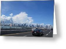 Entering Panama City In Panama Greeting Card