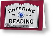Entering Reading Greeting Card