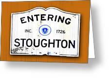 Entering Stoughton Greeting Card
