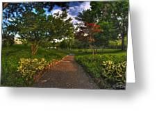 Entering The Japanese Garden Greeting Card