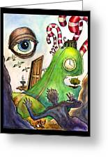 Entering The Lucid Dream Greeting Card by John Ashton Golden