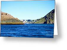 Entering The Narrows Near Fort Amherst Rock By Barbara Griffin Greeting Card