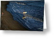 Entering The Ocean. Greeting Card