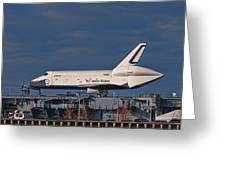 Enterprise At The Intrepid Greeting Card