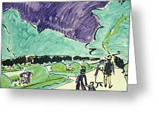 Entrance To A Large Garden In Dresden Greeting Card by Ernst Ludwig Kirchner