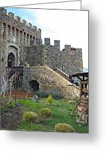 Entrance To Castello Di Amorosa In Napa Valley-ca Greeting Card