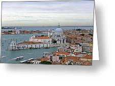 Entrance To Grand Canal Venice Greeting Card