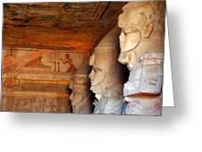 Entrance To The Great Temple Of Ramses II Greeting Card