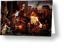 Entry Of Alexander Into Babylon Greeting Card