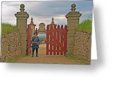 Entry To Fortress In Louisbourg Living History Museum-1744-ns Greeting Card