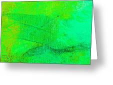 Envision Aqua Green Greeting Card