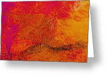 Envision Golden Purple Greeting Card