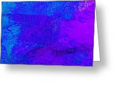 Envision Purple Blue Greeting Card