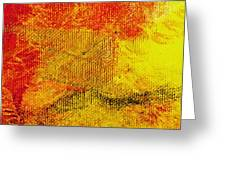 Envision Red Golden Greeting Card