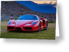 Enzo Ferrari Bold Greeting Card