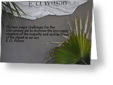 E.o. Wilson Quote Greeting Card