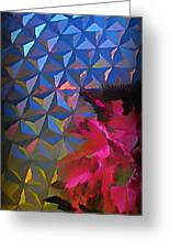 Epcot Centre Abstract Greeting Card