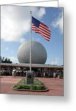 Epcot Usa Greeting Card