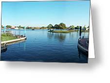 Epcot World Showcase Lagoon Panorama 05 Walt Disney World Greeting Card
