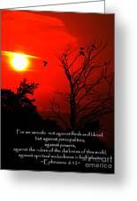 Ephesians Six Twelve Greeting Card
