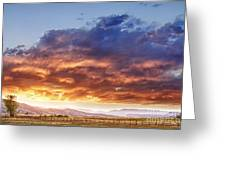 Epic Colorado Country Sunset Landscape Greeting Card