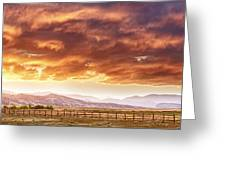 Epic Colorado Country Sunset Landscape Panorama Greeting Card