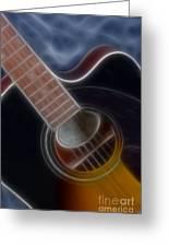 Epiphone Acoustic-9481-fractal Greeting Card