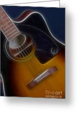 Epiphone Acoustic-9484-fractal Greeting Card