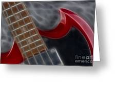 Epiphone Sg Bass-9205-fractal Greeting Card
