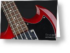 Epiphone Sg Bass-9205 Greeting Card