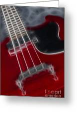 Epiphone Sg Bass-9241-fractal Greeting Card