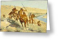 Episode Of The Buffalo Gun Greeting Card