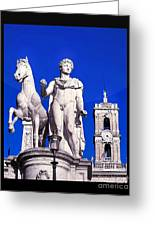 Equestrian Statue At Capitoline Hill Greeting Card