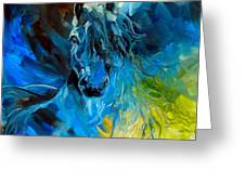 Equus Blue Ghost Greeting Card by Marcia Baldwin