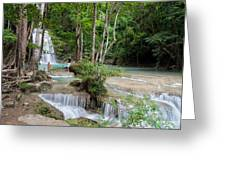 Erawan National Park In Thailand Greeting Card