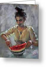 Erbora With Watermelon Greeting Card